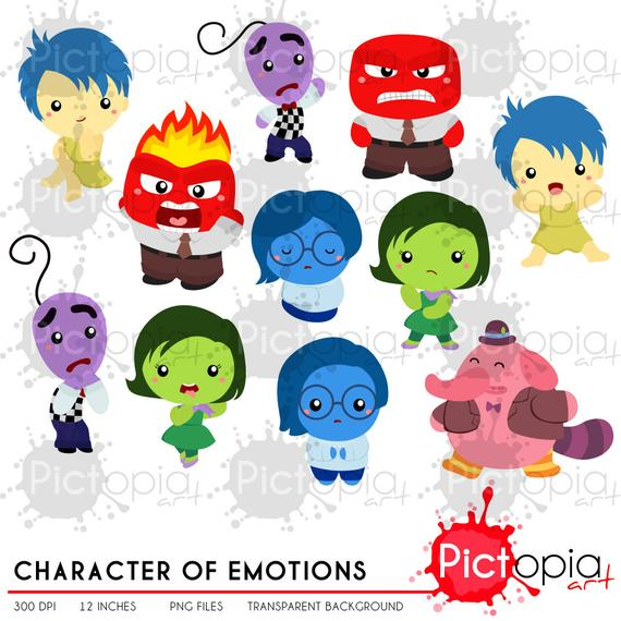 Emotions clipart head. Character of cartoon clip