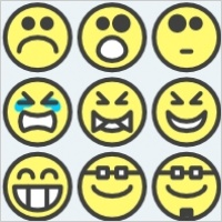 Clip art for adults. Emotions clipart nine