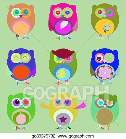 Stock illustration set of. Emotions clipart nine