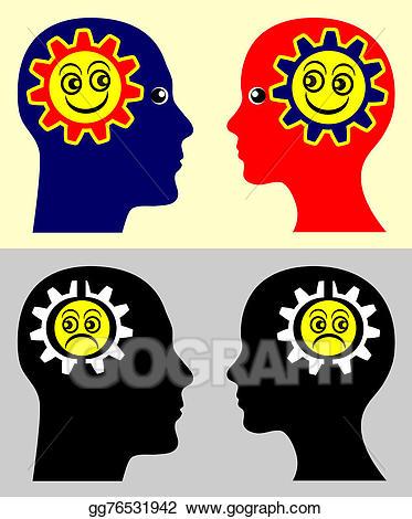 Emotional contagion stock illustration. Emotions clipart psychology