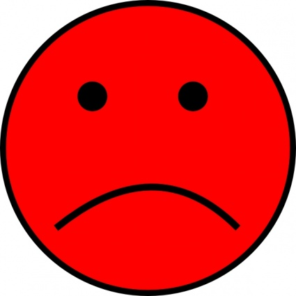 Free pictures of download. Emotions clipart red sad face