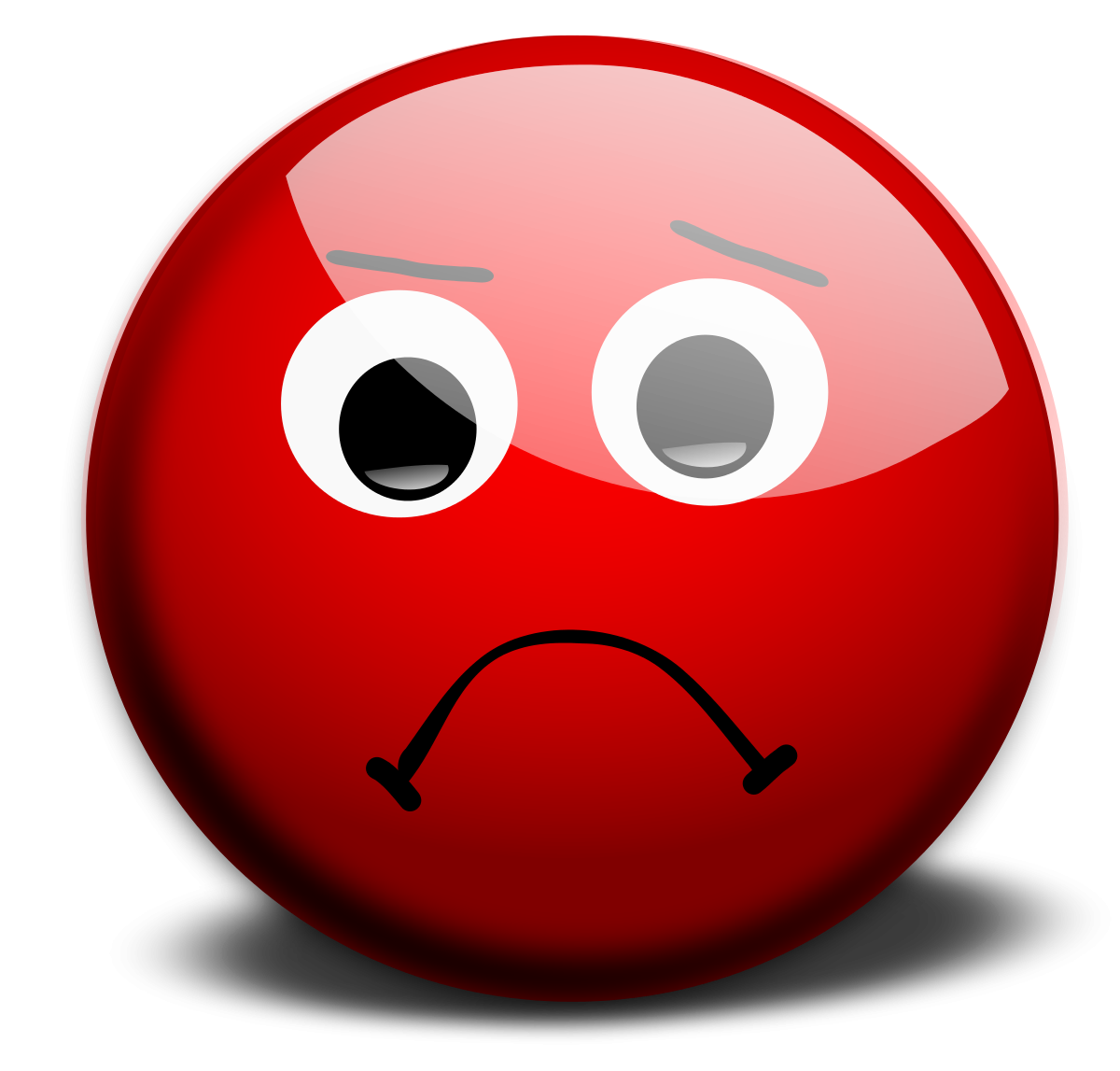 Clip art n free. Emotions clipart red sad face