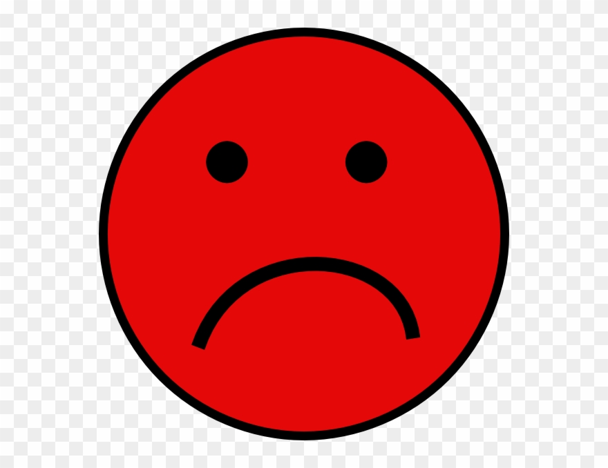 Smiley pinclipart . Emotions clipart red sad face