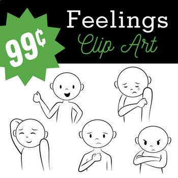 Emotions clipart worried. Feelings b w png