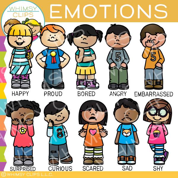 Kids emotions clip art. Proud clipart