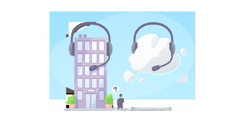 Employee clipart call center. On premises vs cloud
