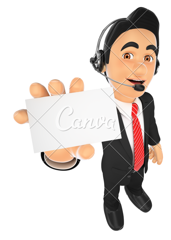 Employee clipart call center.  d with a