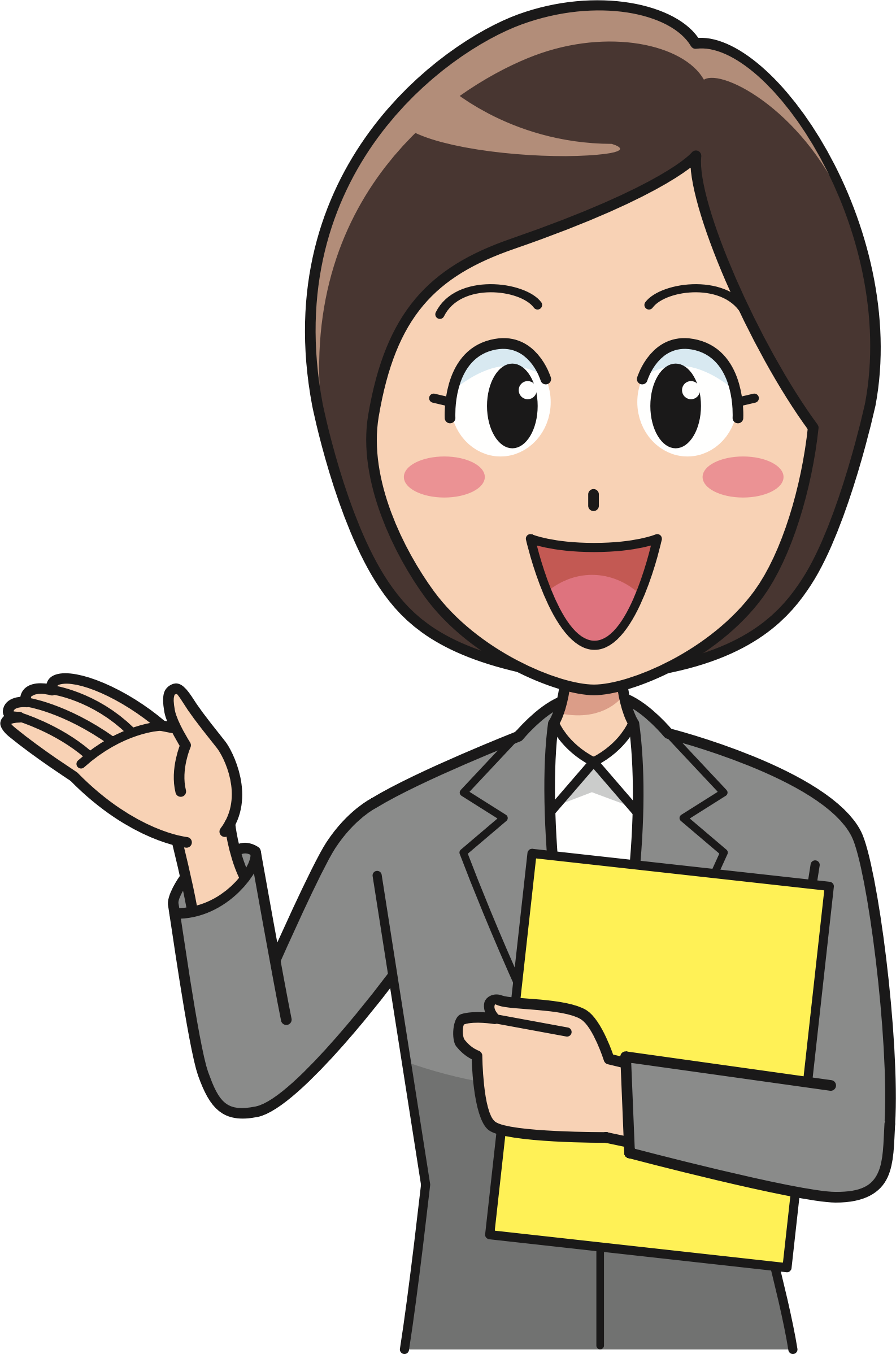 Teamwork clipart office. Female worker big image