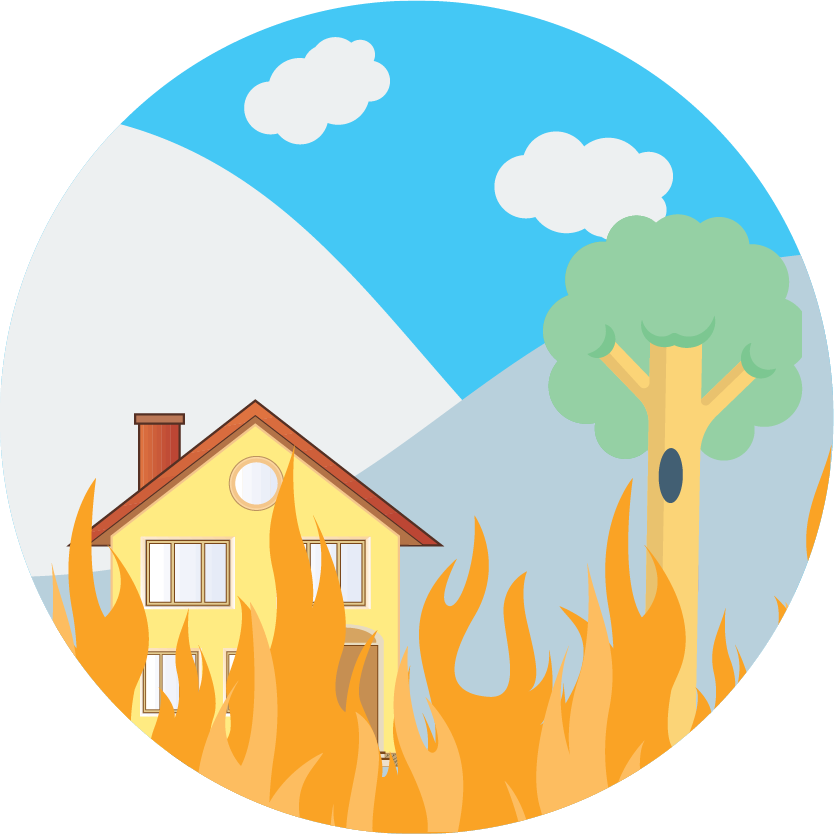 Personal risk services wildfire. Employee clipart concierge