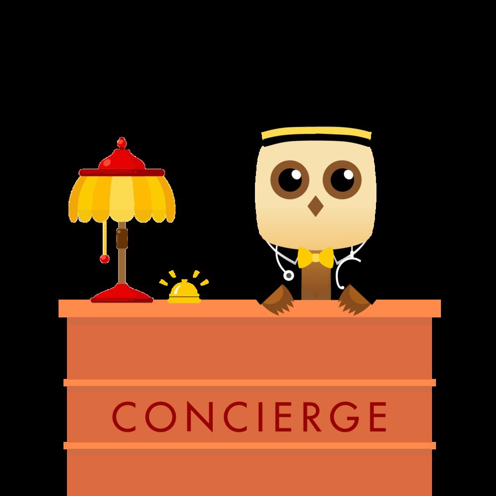 Employee clipart concierge. Blog locum s nest