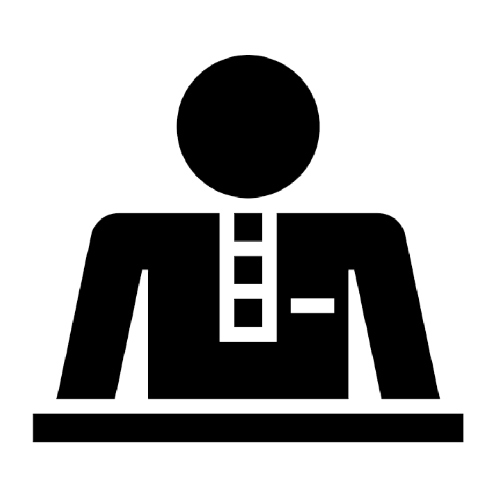 Individual services counterparts service. Employee clipart concierge