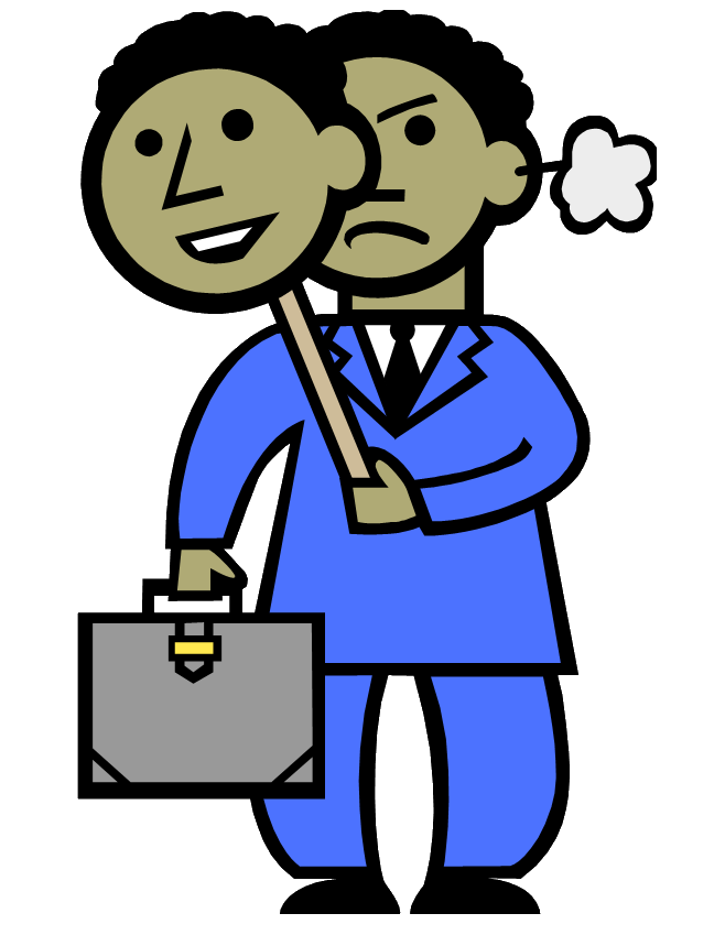 Employee clipart coworker. Dealing with a job
