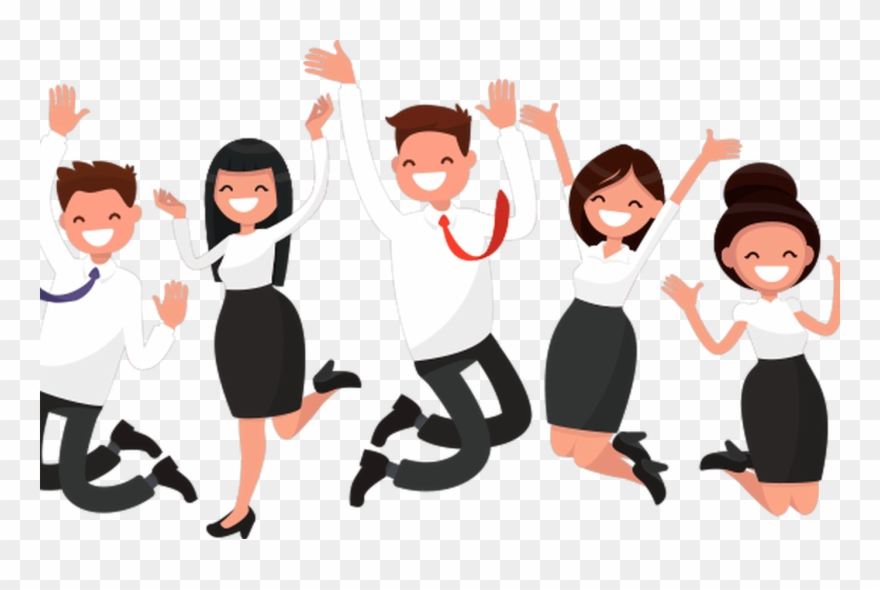 Employee clipart excited. Download for free png