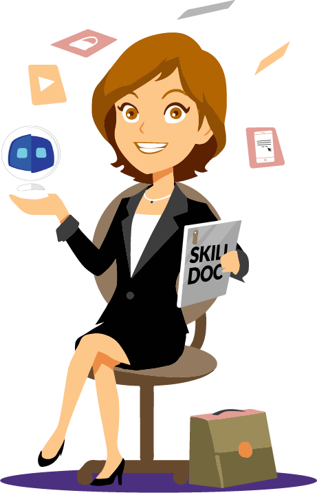 Skills alpha artificial intelligence. Excited clipart employee