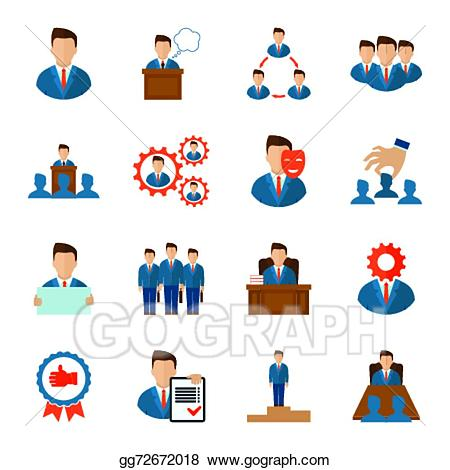 Employee clipart executive. Vector stock icons flat