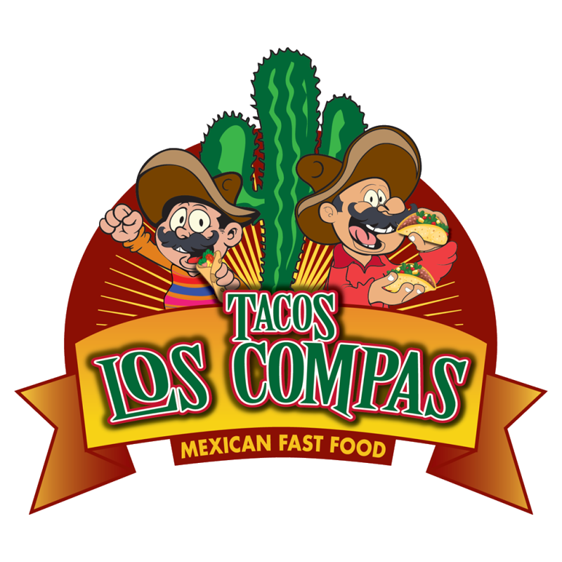 Tacos los compas delivery. Employee clipart fast food worker