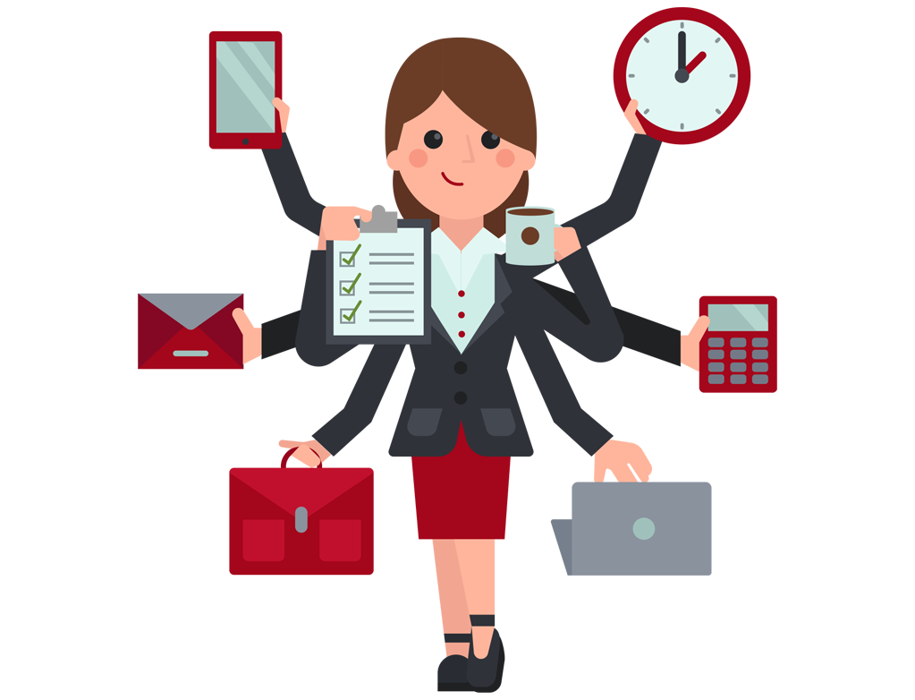 Employee clipart female employee. The personal assistant slave