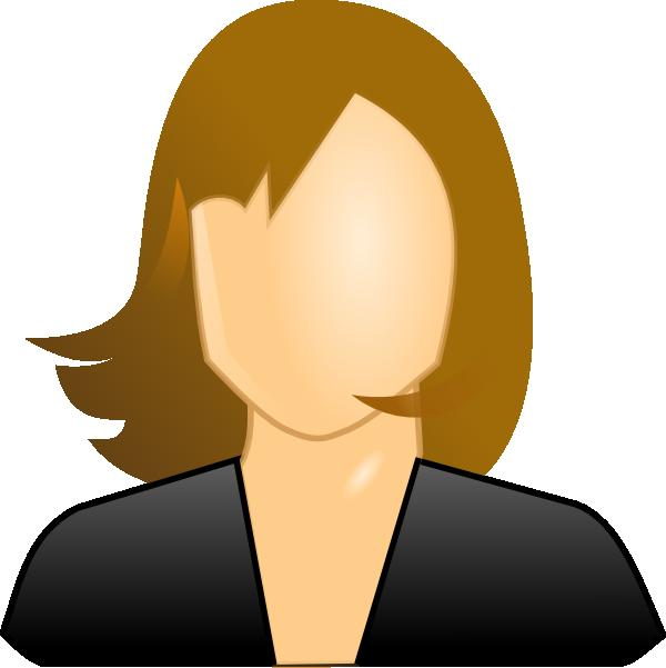 Employee clipart female employee.  office icon images