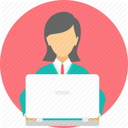 Employee clipart female employee. Icon free icons library