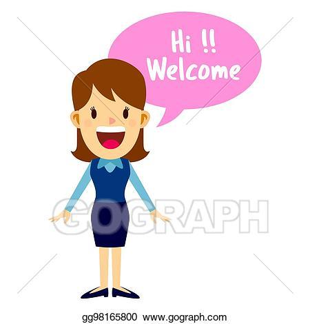 Eps vector business woman. Employee clipart guest