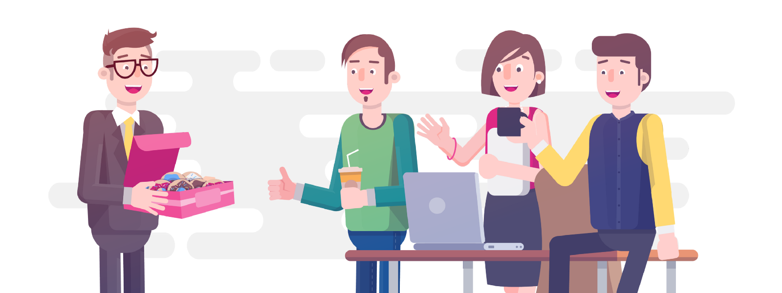 Small steps to a. Employee clipart happy employee