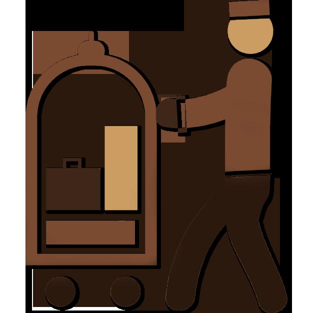Kamat inn a unit. Employee clipart hotel employee