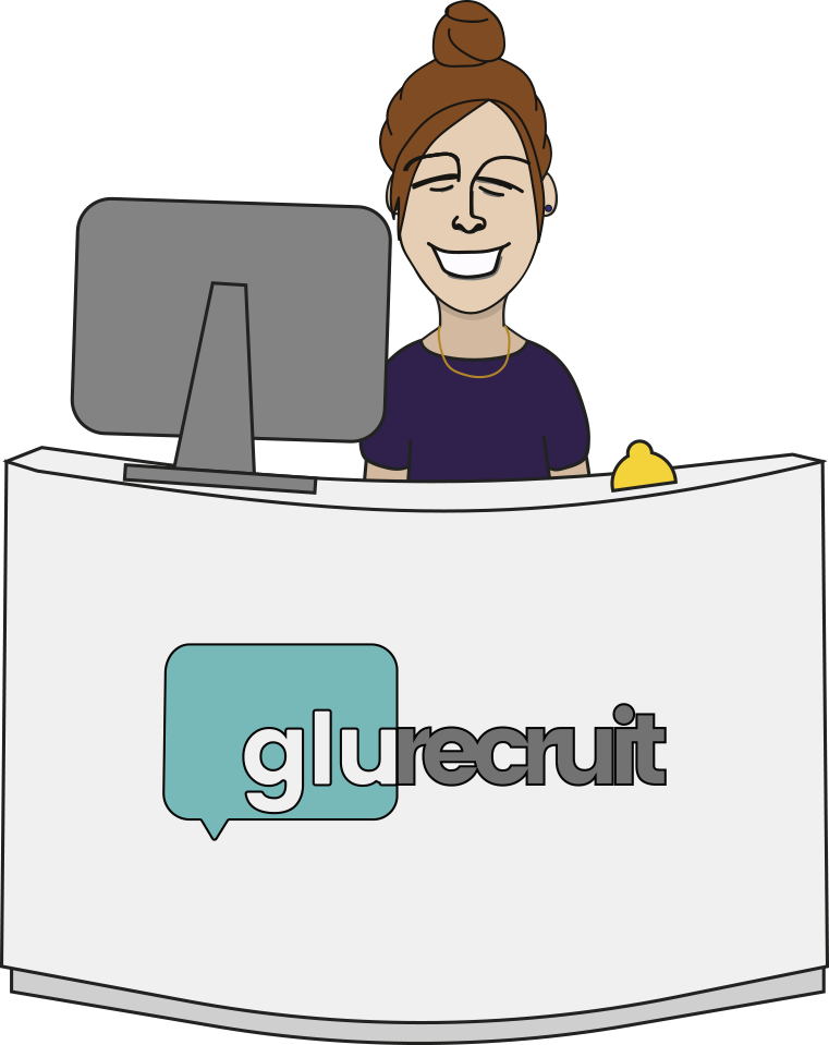 Employee clipart receptionist. Advice glu recruit reception