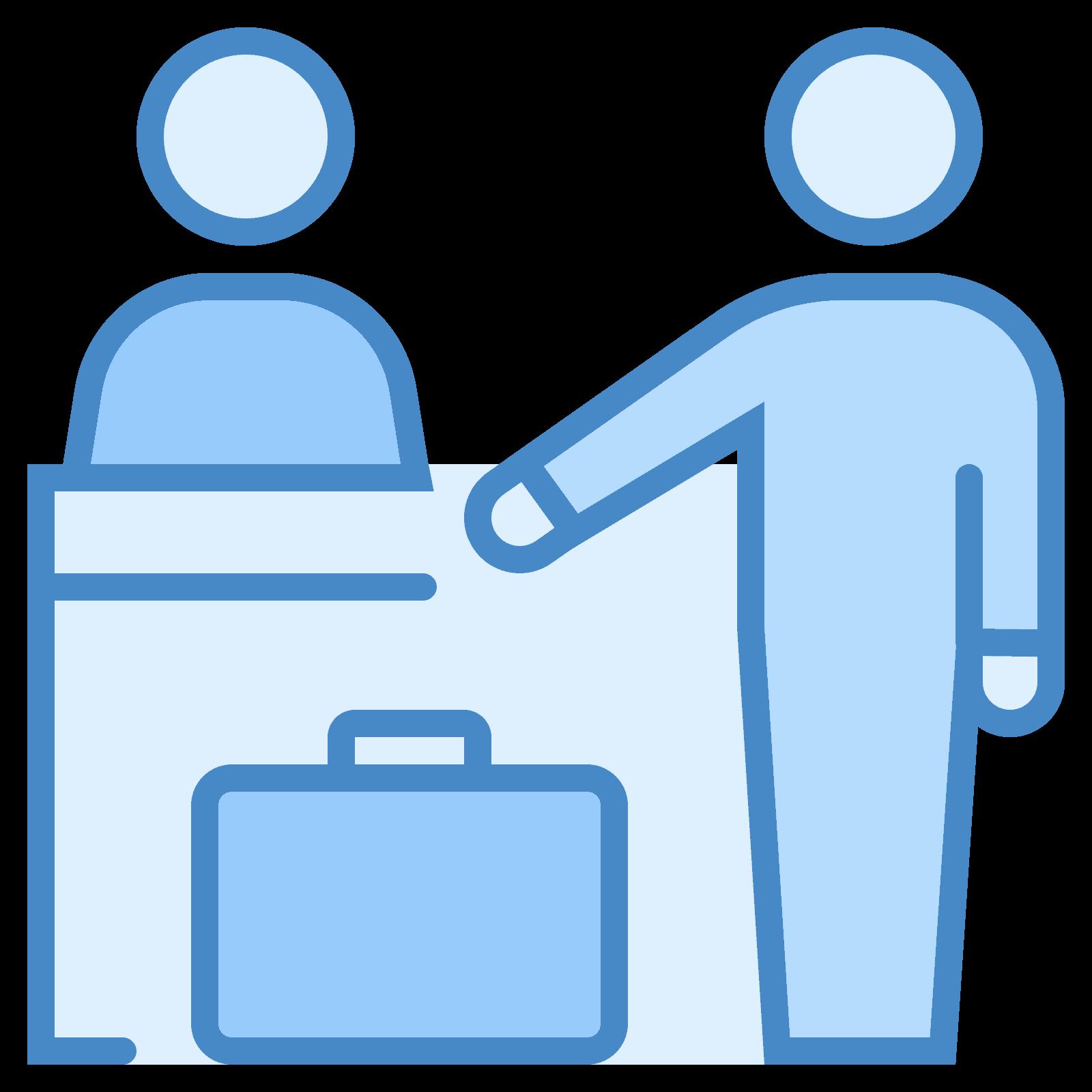 Icona reception download gratuito. Employee clipart receptionist