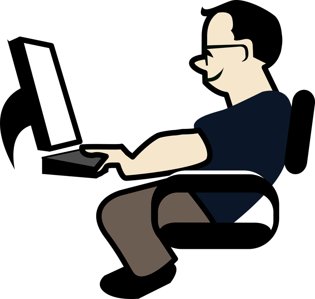 collection of computer. Employee clipart relaxed