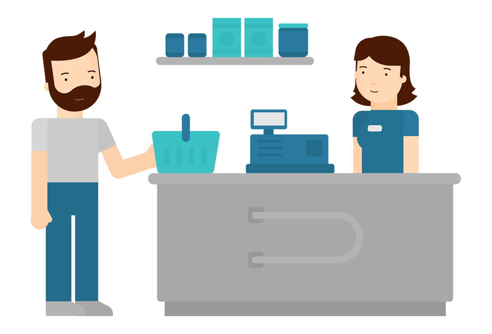 Online scheduling for stores. Employee clipart retail employee