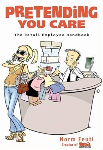 Pretending you care the. Employee clipart retail employee