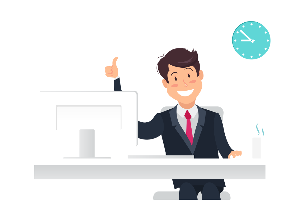 Interview improving the customer. Employee clipart satisfied employee