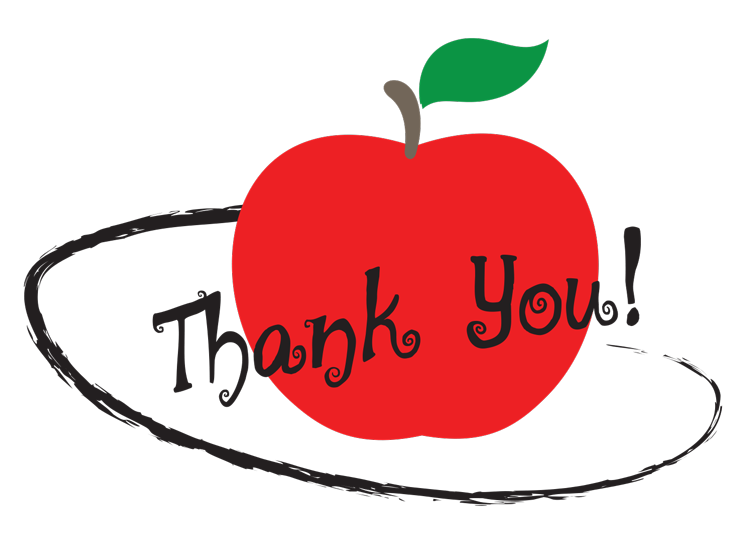 Thanks clipart teacher appreciation week.  gifts to thank