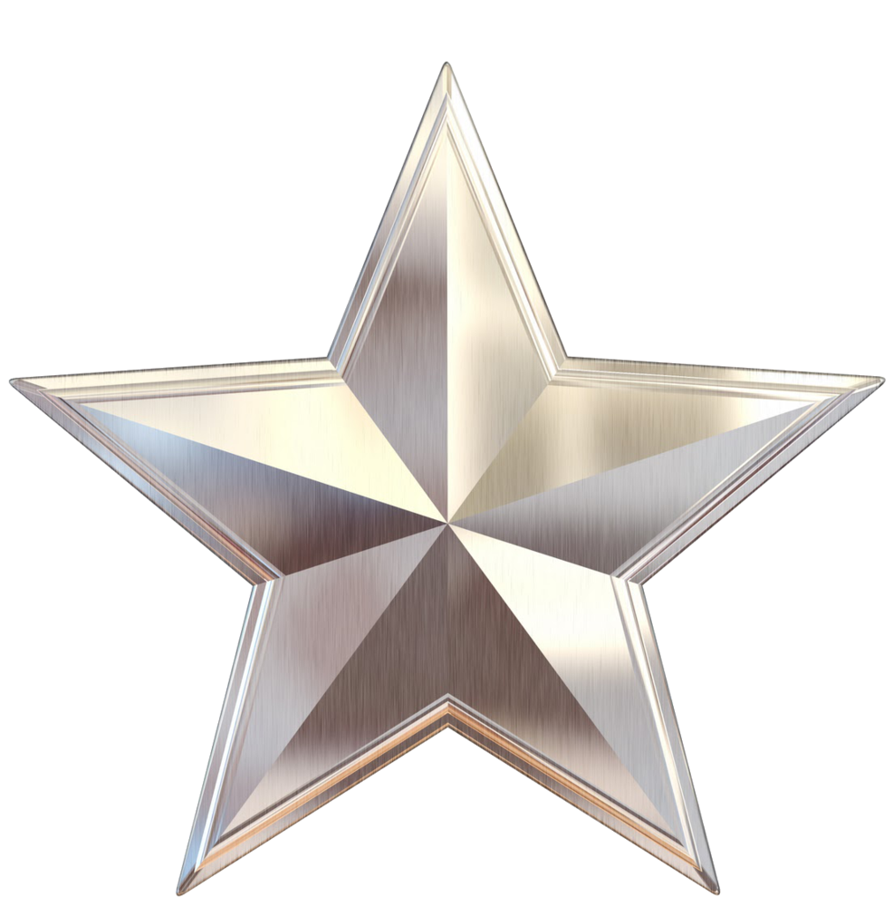 Employee clipart star. Silver scaled png logo