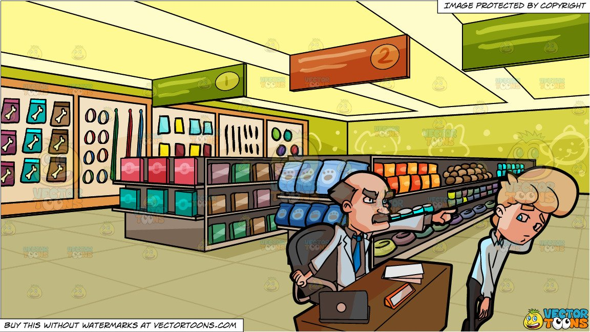 An employer firing one. Employee clipart store owner