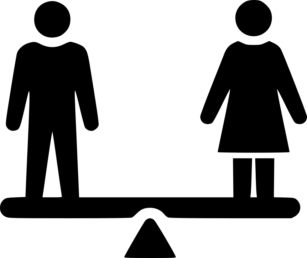 Inequality selection balance discrimination. Employee clipart svg