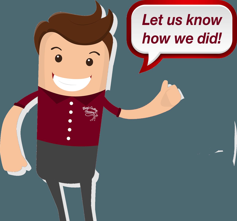 Burg s custom cleaning. Employee clipart testimonial