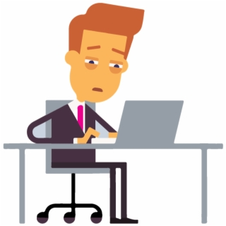 Download for free png. Employee clipart tired