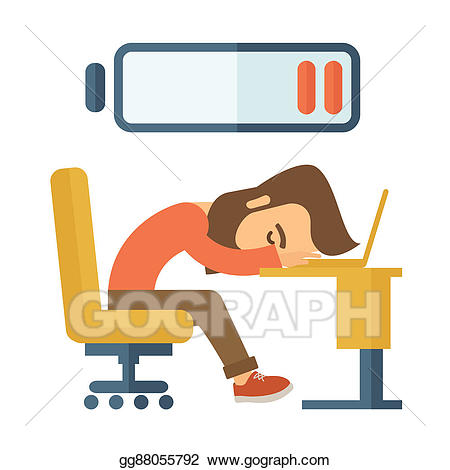Employee clipart tired. Stock illustration lying