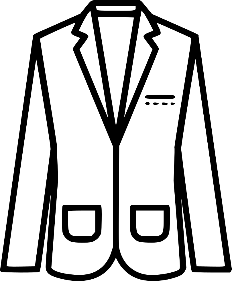 Suit clipart black blazer. Svg png icon free