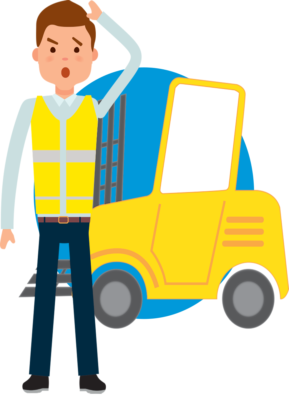 Employee clipart warehouse employee. Flt pre use inspections