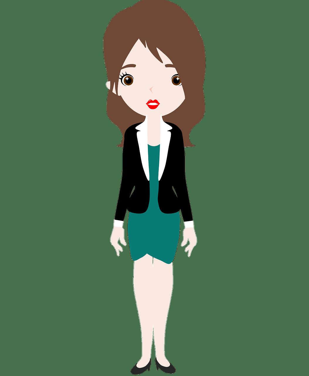 Employee clipart woman employee. High heels at work