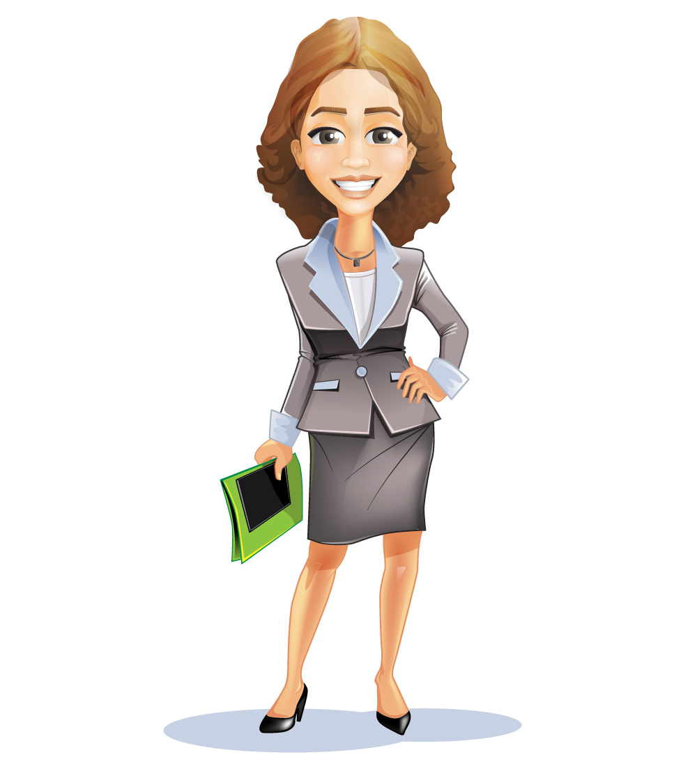 Cartoon business suit more. Employee clipart woman employee