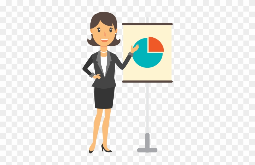 Employee clipart woman employee. Presentation png image