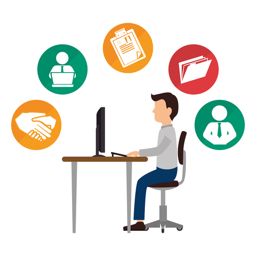 Employee clipart workforce. Self service the simple