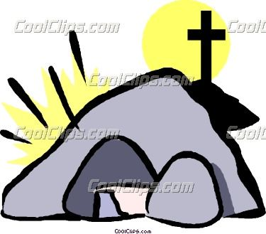 Empty tomb clipart. Jesus is alive at