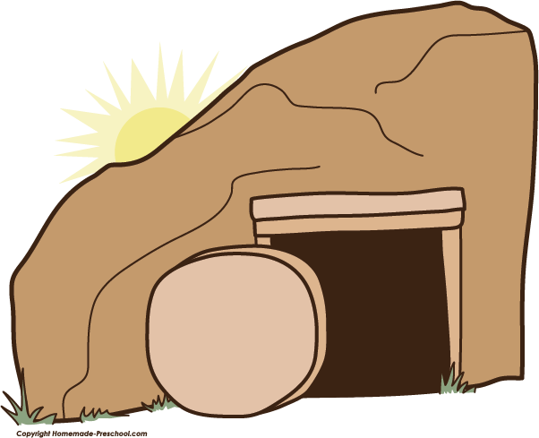 Easter . Empty tomb clipart