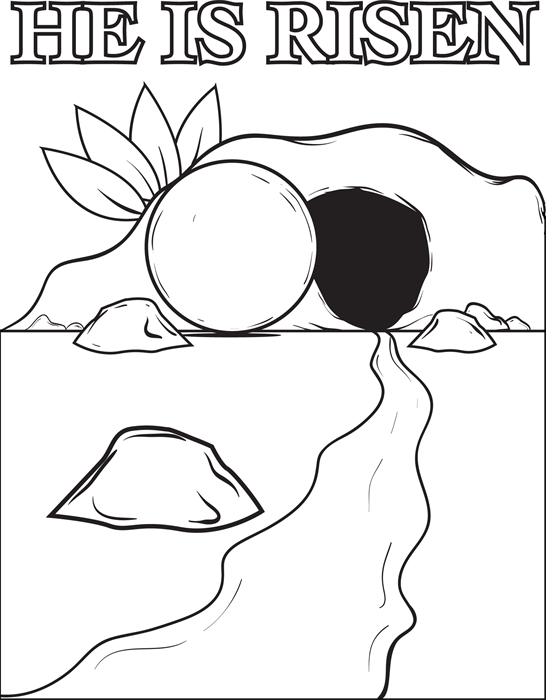 Of jesus christ coloring. Empty tomb clipart i am the resurrection and the life
