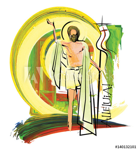 Empty tomb clipart risen lord. Jesus christ the easter