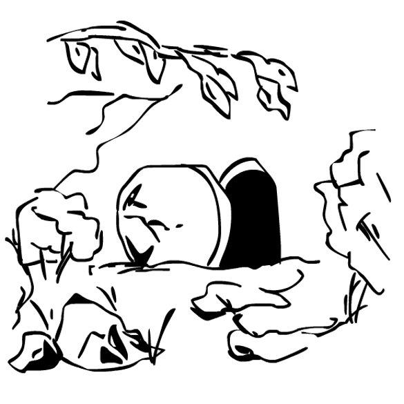 Empty tomb clipart risen lord. Joseph of arimathea a
